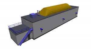Model of a BES-Plugflow digester