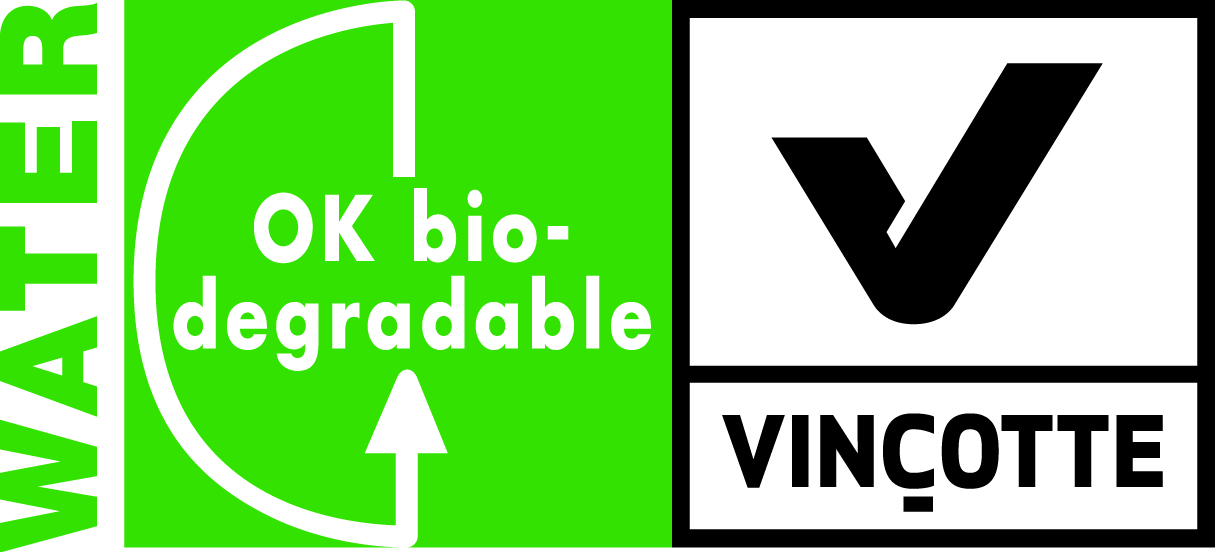 Logo biodegradation in water Vinçotte